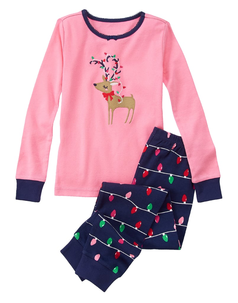 Gymboree Deer & Holiday Lights 2-Piece Gymmies
