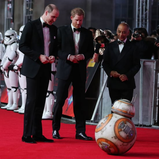 Prince William and Harry Star Wars Last Jedi Premiere 2017