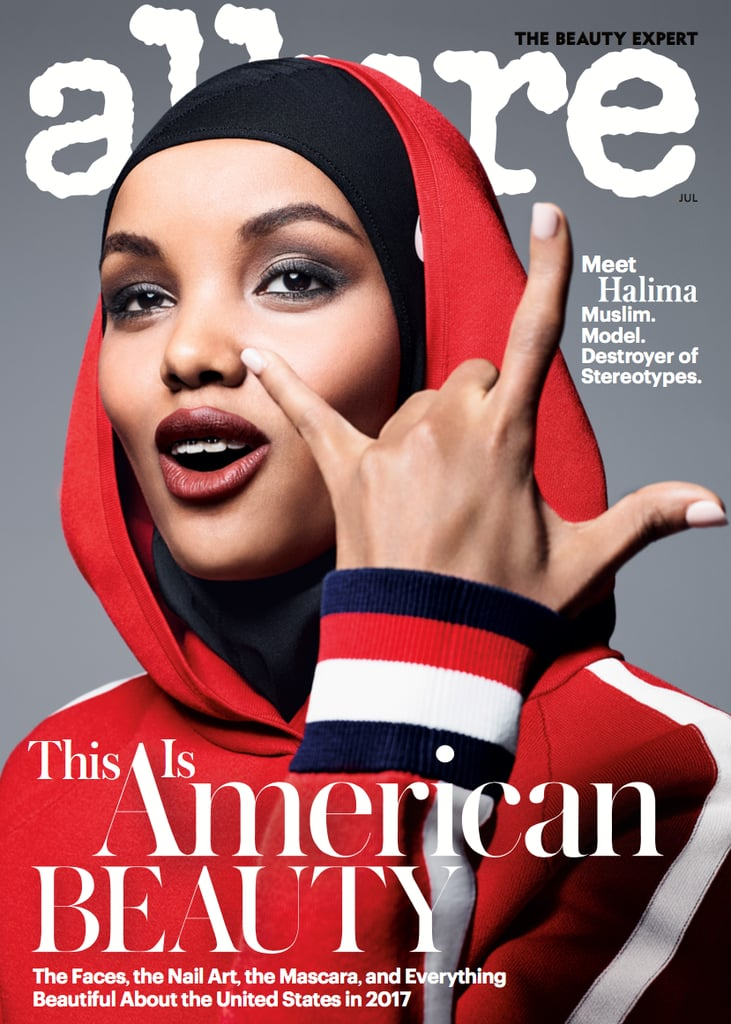 c33b17a62e59 Halima Appeared on the Cover of Allure s July Beauty Issue