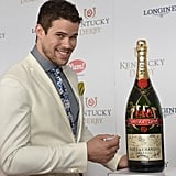 Kris Humphries wore a cream blazer.