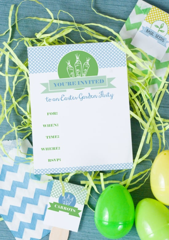 Easter Garden Party Invitation