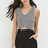 Forever 21 Striped Twill Crop Top ($18)