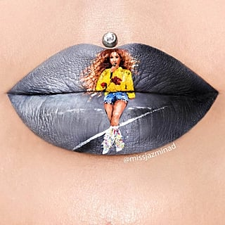 Beyonce at Coachella Lip Art
