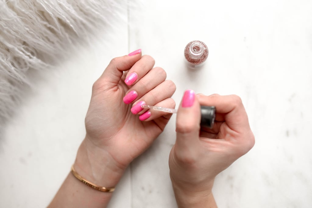Give yourself an at-home manicure with a color you regularly wouldn't wear and flaunt it.