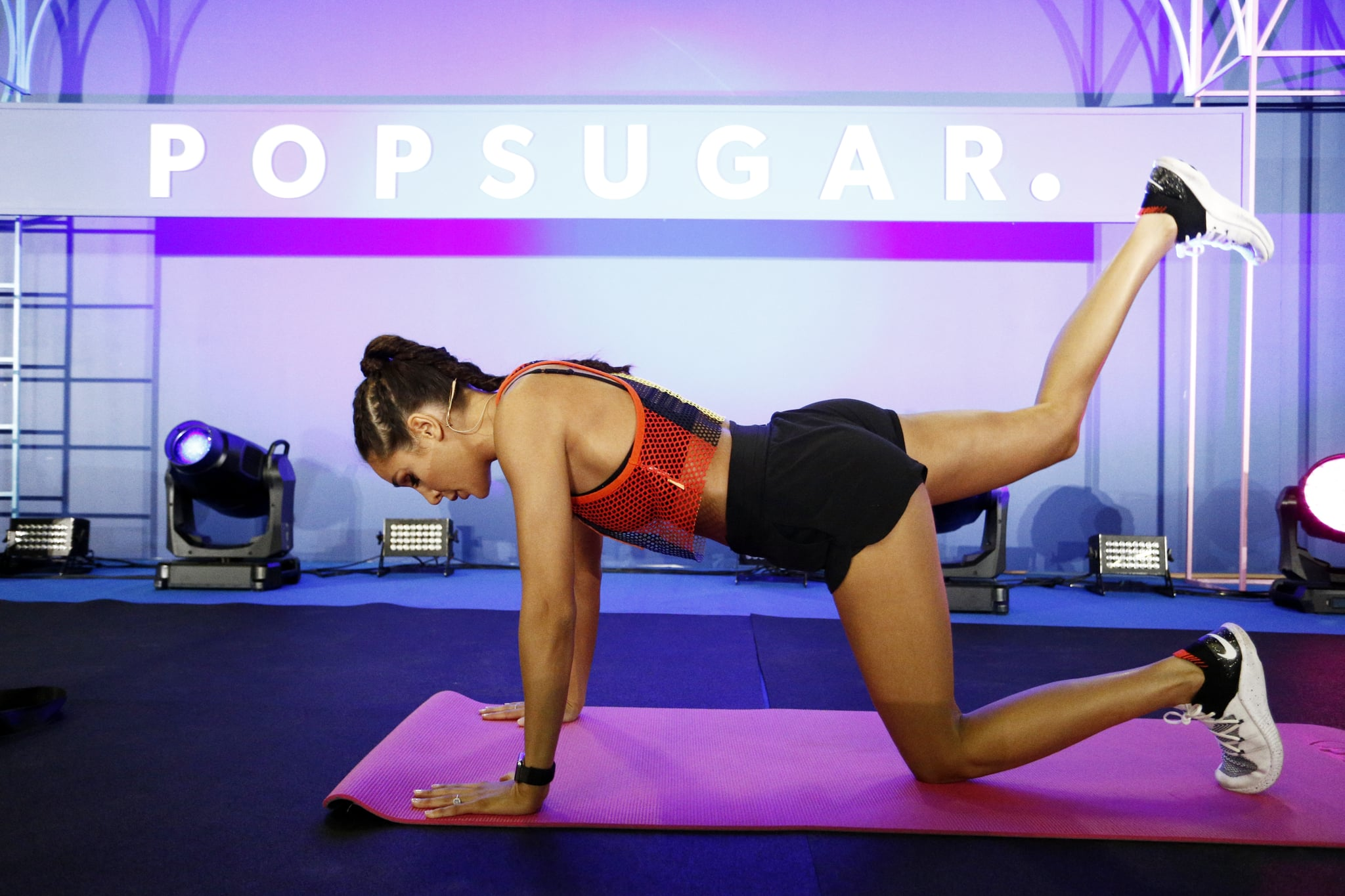 NEW YORK, NY - JUNE 10:  Personal trainer Kayla Itsines leads a workout on day 2 of POPSUGAR Play/Ground on June 10, 2018 in New York City.  (Photo by Brian Ach/Getty Images for POPSUGAR Play/Ground)