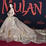 Yifei Liu Wearing Elie Saab at the Mulan Premiere