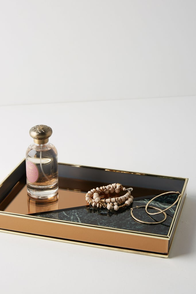 Anthropologie Rose Gold Vanity Tray Best Jewelry Organizers