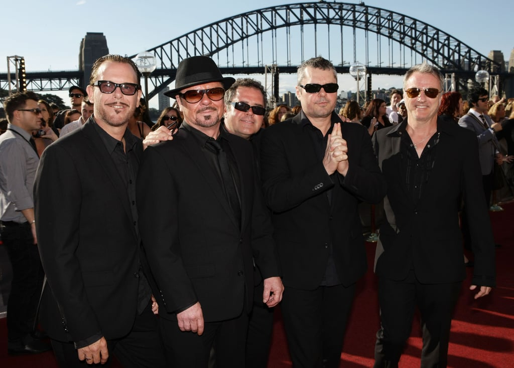 INXS boys in black.