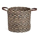 Medium Natural Seagrass Round Basket