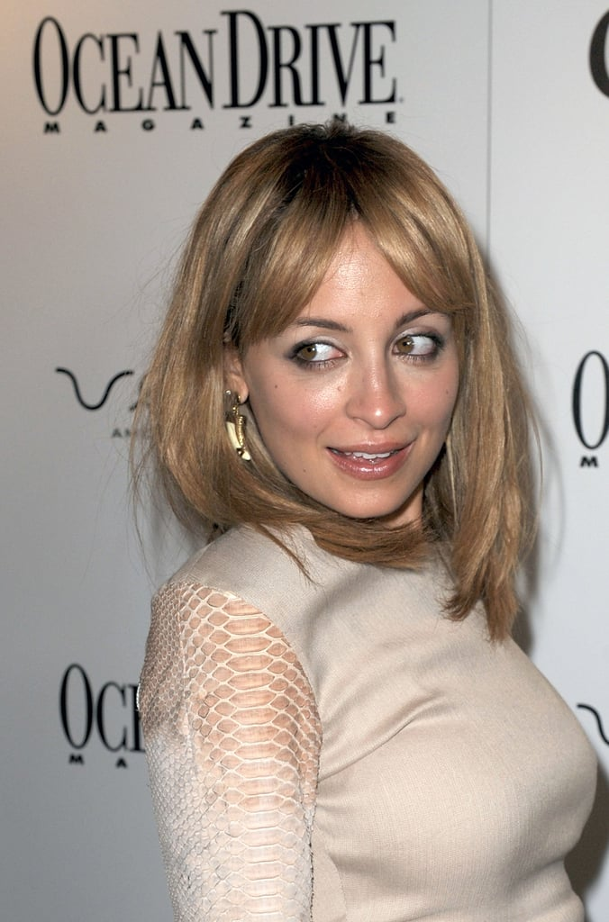 Nicole Richie gave an over-the-shoulder pose.