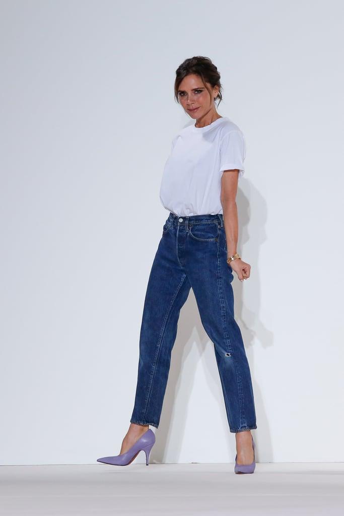 Victoria Beckham Wearing Mom Jeans