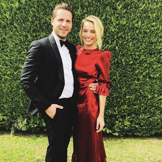 Margot Robbie's Red Dress at a Wedding