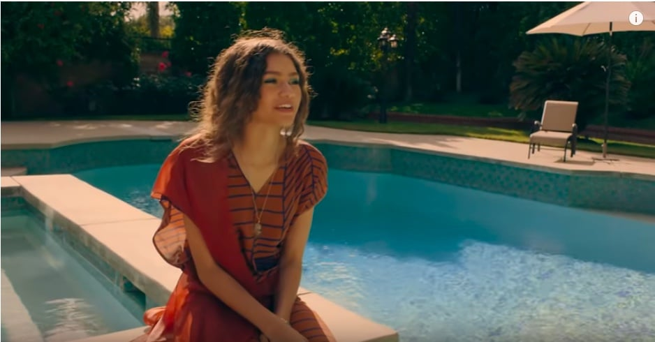What's a California backyard without a pool? Zendaya has gone all out with a huge pool that includes a smaller side pool (maybe a hot tub?) and some chairs under an umbrella to soak up the sunny SoCal days.