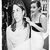 Emma Watson posed next to a poster of her Bling Ring director, Sofia Coppola. Source: Emma Watson on WhoSay