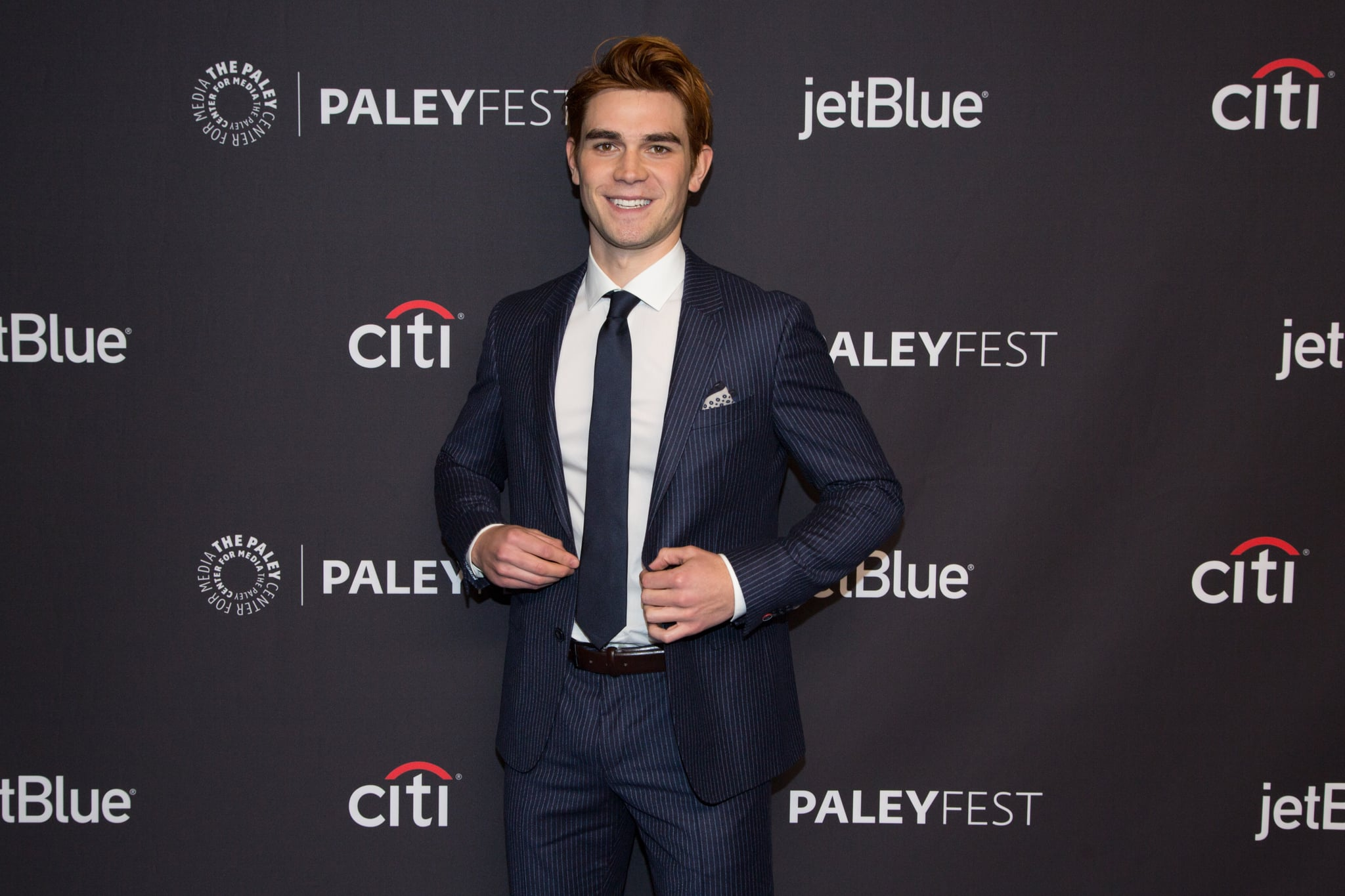 HOLLYWOOD, CA - MARCH 25:  KJ Apa arrives for the 2018 PaleyFest Los Angeles - CW's