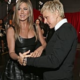 Jennifer Aniston and Ellen DeGeneres