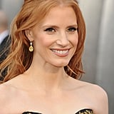 Jessica Chastain wore Harry Winston diamonds at the Oscars.