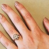 .80 Carat Center Vintage Diamond Cluster Ring ($4,450)