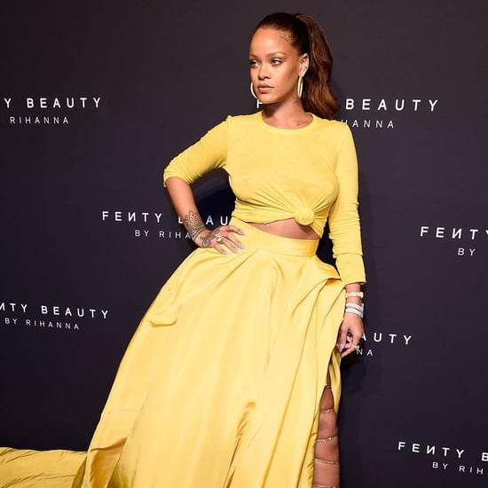 Rihanna's Yellow Oscar de la Renta Dress at Fenty Beauty