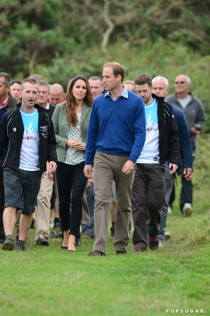 Kate Middleton and Prince William attend the Ring of Fire marathon festivities in Anglesey.
