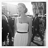 Mad Men actress Jessica Paré wore a beautiful white gown.  Source: Instagram user instylemagazine