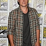Josh Hutcherson was at the press line for Catching Fire.