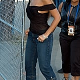Beyoncé Knowles made her way to the field at the Super Bowl in San Diego in January 2003.