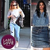 It's no secret that printed jeans and chambray shirts have become Hollywood fashion staples, but there is one label in particular, Current/Elliott, that has celebrities totally obsessed. See which stars are into the line, and then shop their looks — including exact pieces — for yourself.