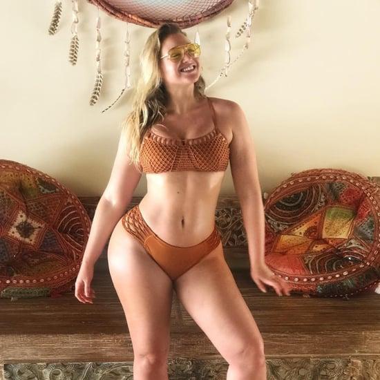 Iskra Lawrence Brown Aerie Bikini