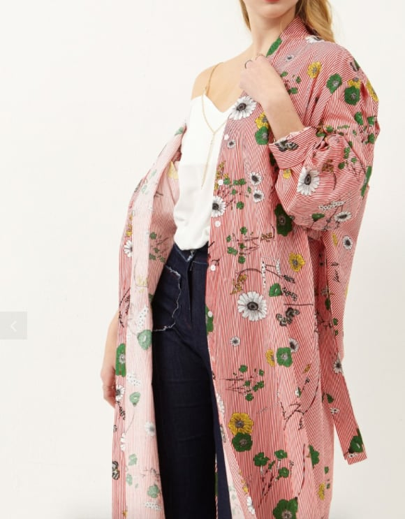 The Storets Tahnee Flower Shirt Dress ($118) is also known as the perfect duster.