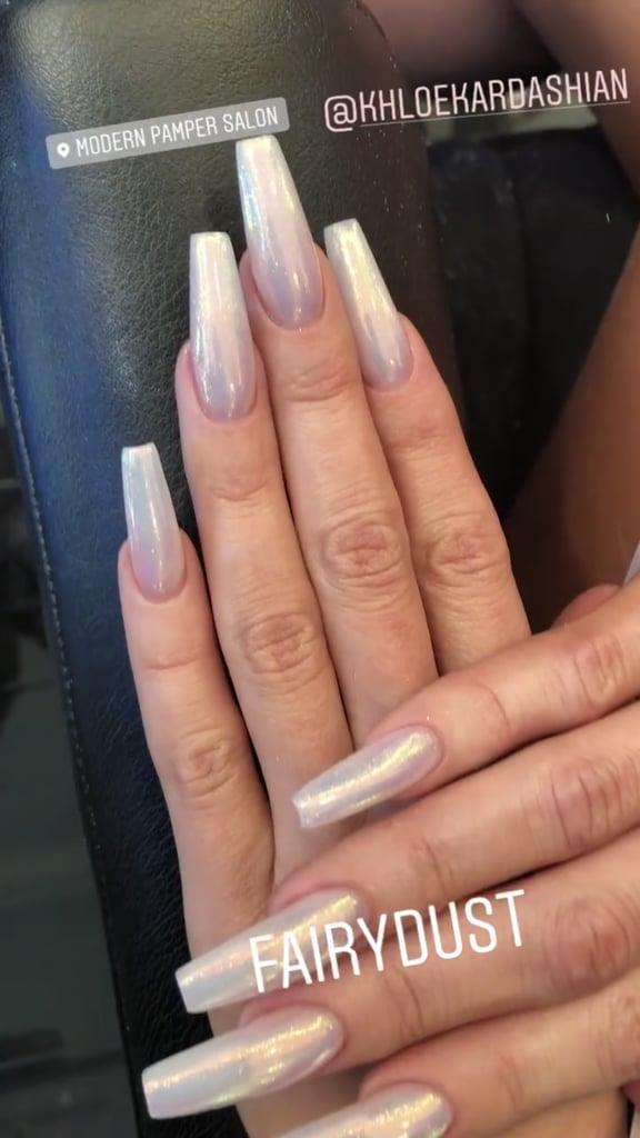 Khloé Kardashian's Fairy Dust Nails