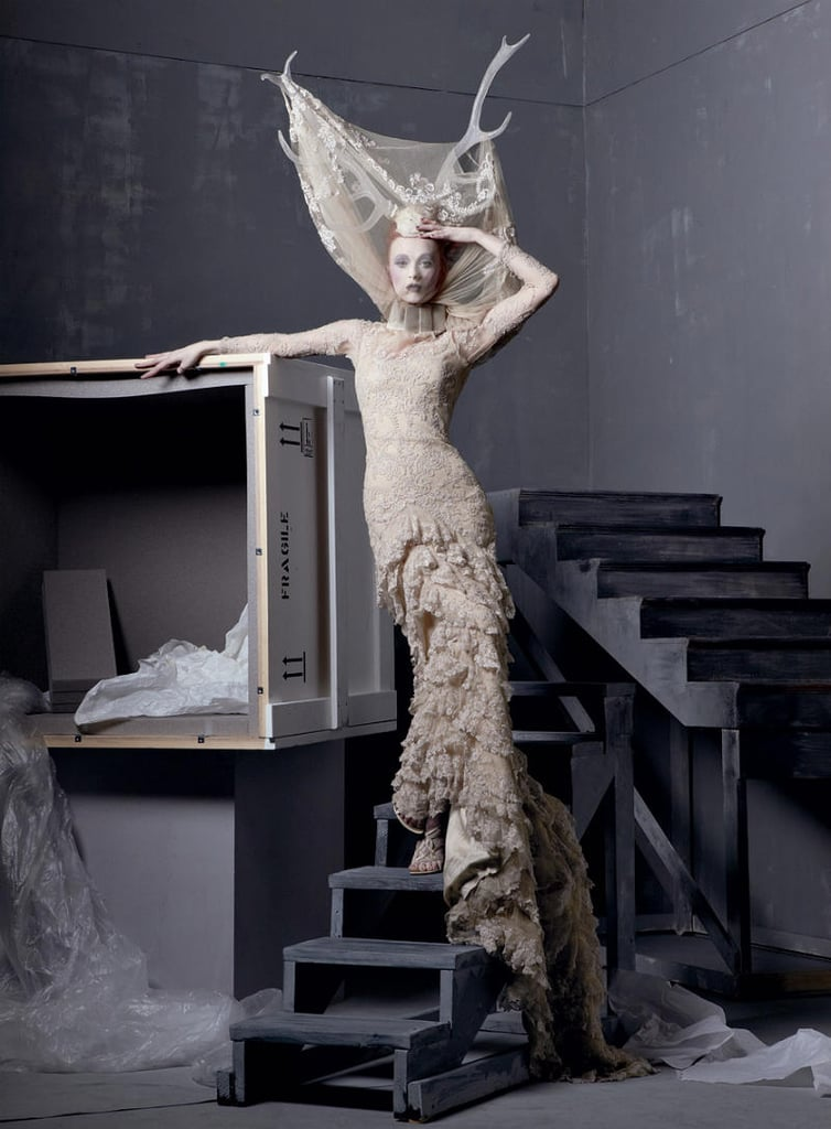 Alexander Mcqueen Iconic Designs Shot By Steven Meisel For