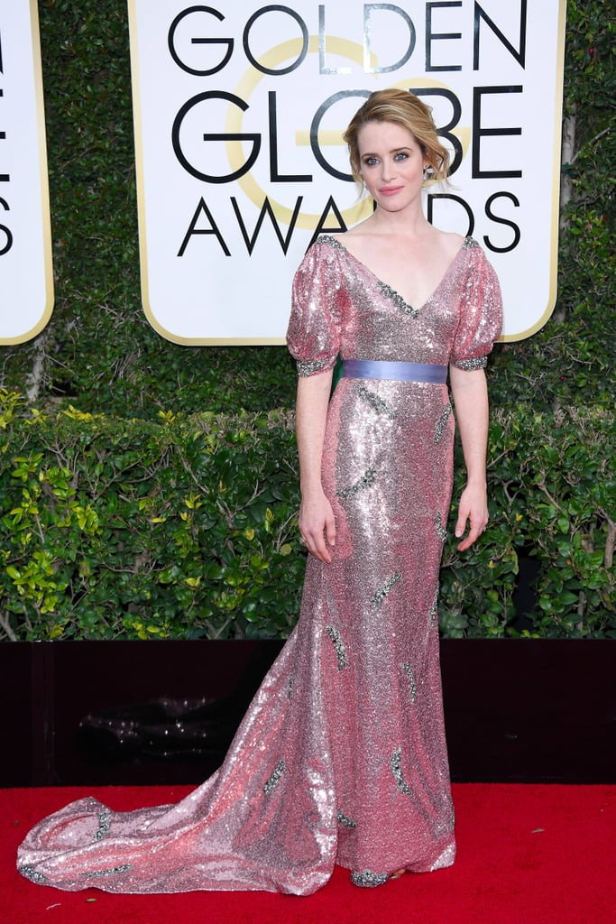 Claire Foy's Dress at the 2017 Golden Globes