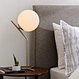 Rivet Mid Century Modern Glass Ball Metal Table Desk Lamp
