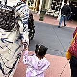 Kylie and Stormi Wearing Tie-Dye in Disney World
