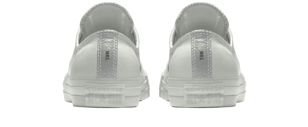 Custom Bridal Sneakers For Wedding