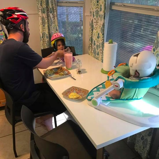 Family Wears Helmet to Support Their Son