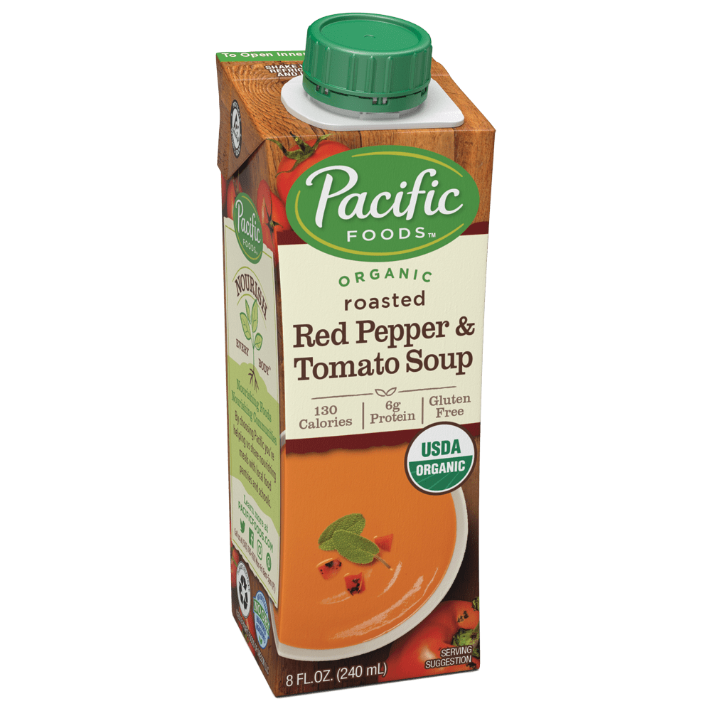 Pacific Foods Roasted Red Pepper and Tomato Soup