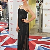 Katherine Kelly went strapless and sheer.