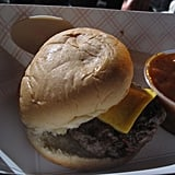 Although Bobby Flay's award-winning burger was delish, I really enjoyed this traditional cheeseburger from RUB.
