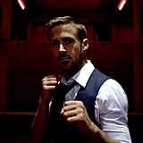 Ryan Gosling as Julian Just when we thought Ryan Gosling couldn't be any more of a stud, he's now playing a tough ex-kickboxer in Only God Forgives. Amid all the violence, he shows off his signature smolder — and, really, who can resist those baby blues? Source: Bold Films