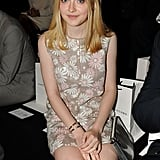 Dakota Fanning sat front row at Marc Jacobs.