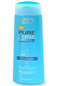 Doing Drugstore: L'Oreal Pure Zone Pore Unclogging Scrub Cleanser