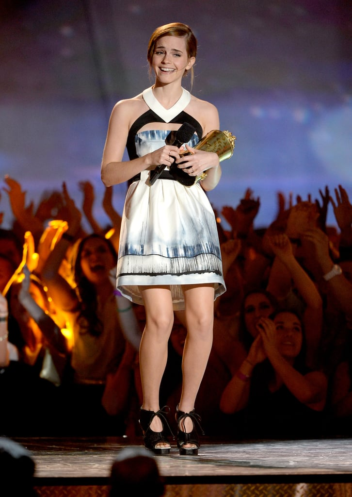 Emma Watson took the stage at the MTV Movie Awards.