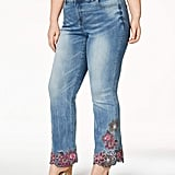INC Embroidered Bootcut Jeans