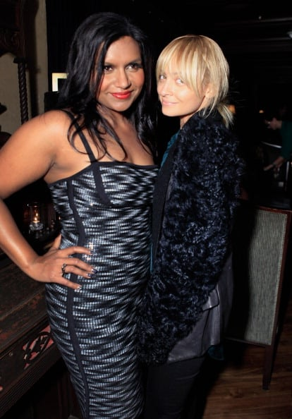 Nicole Richie showed support for Mindy Kaling in Hollywood at a toast for Mindy Kaling's book in November 2011.
