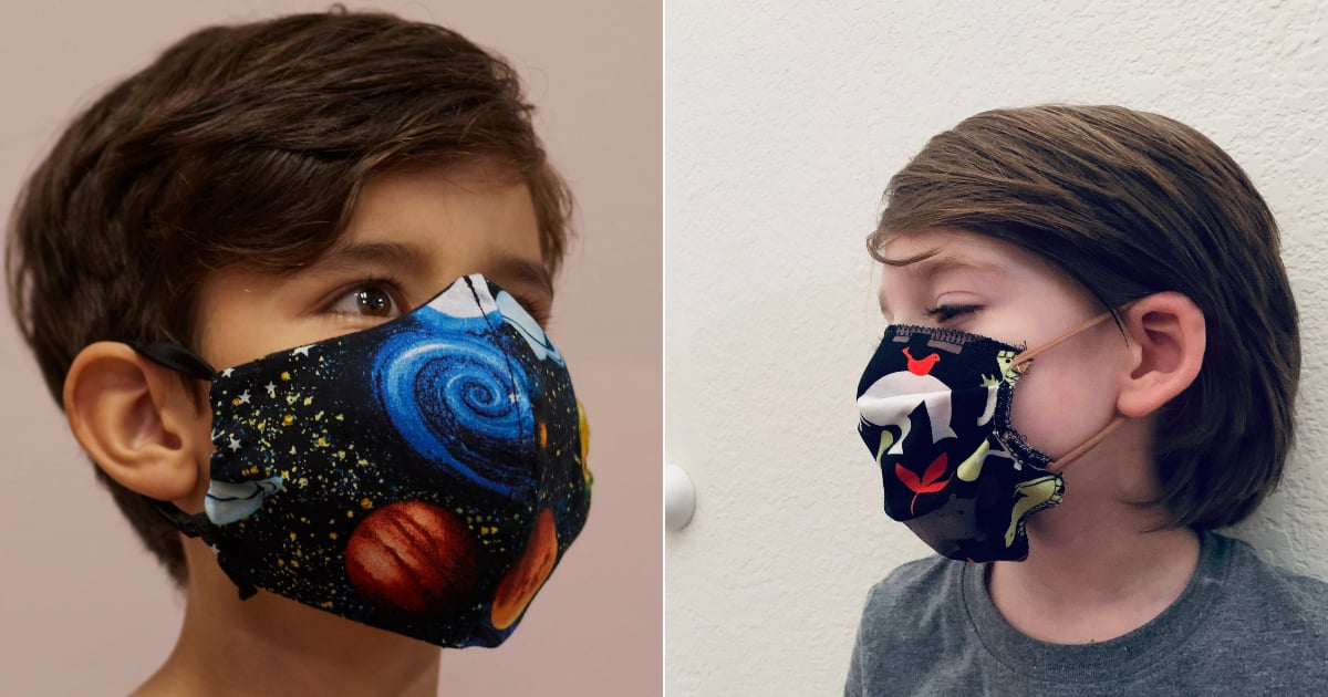 You Can Buy Washable Face Masks in Different Patterns and Colors For Kids on Etsy