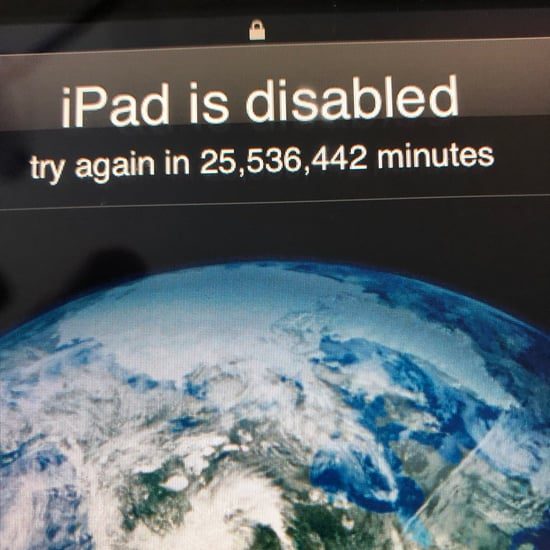 Boy Locks Dad Out of iPad For 48 Years
