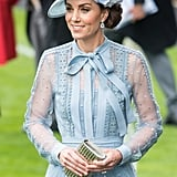 June: Kate attended the first day of Royal Ascot with the royal family.