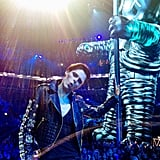 Coco Rocha posed with the VMAs Moonman during the show. Source: Instagram user cocorocha